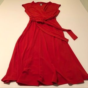 Red wrap dress from HM